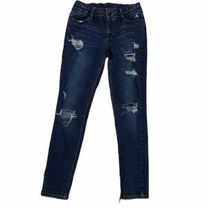 Blue Spice Jeans Distressed Dark Wash Sz 11